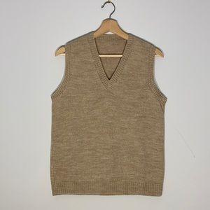 Tan Knit Vest